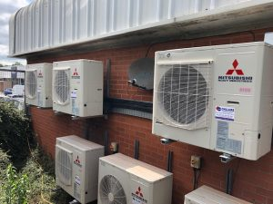 Outdoor units for car showroom air conditioning